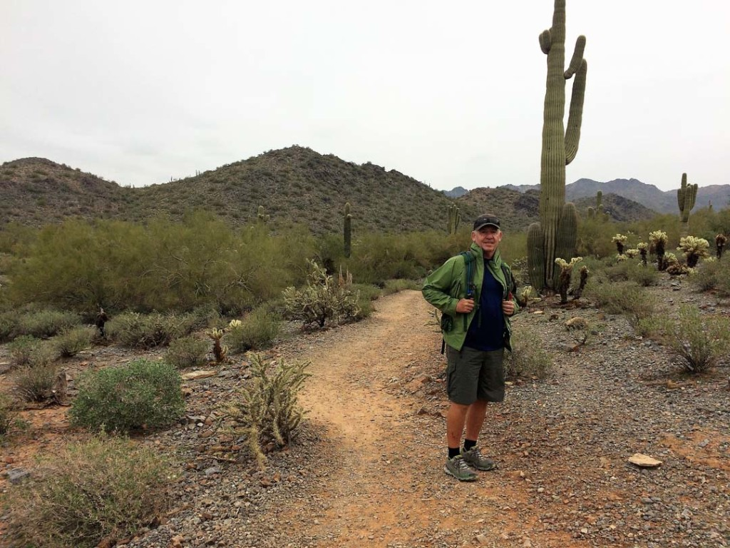 Steve Sproviero, a veteran guide for Arizona Outback Adventures, found a second career leading tourists on trails such as this one – the 4-mile Gateway Loop Trail in Scottsdale's McDowell Sonoran Preserve. Its 30,000-plus acres contain a greater variety of flora than any desert in the world.  Photo by E'Louise Ondash