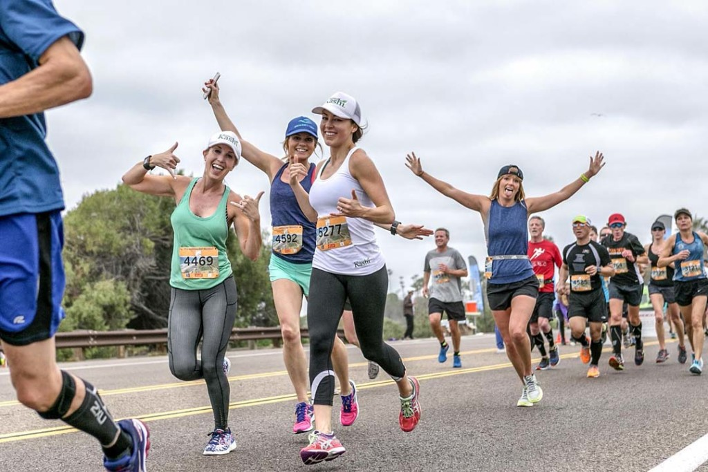 More than 5,000 runners participate in the inaugural Encinitas Half-Marathon last weekend. Photo by Bill Reilly