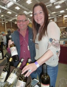 Skip and Maureen Coomber of Coomber Family Wines in San Diego are a hit at the Family Winemakers Show in Del Mar with their Skater Girl value wines. Photo by Frank Mangio