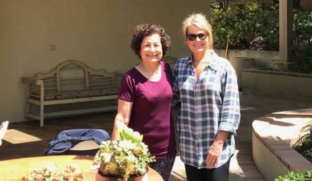 Jane Larson and Julie Monroe attend the RSF Garden Club's topiary workshop on April 10.  Courtesy photo