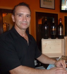"""Gino Campbell, of PAON Restaurant & Wine Bar in the Carlsbad Village, produces the """"Dream Team,"""" wine competition tasting between California and Washington. Photo courtesy Frank Mangio"""
