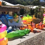 Water toys await weekend visitors at Descanso Beach on Catalina Island. Photo by Jerry Ondash