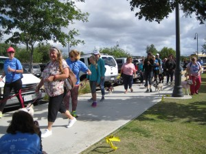 Pets and their people hit the pavement at last year's Tails on the Trails event in Oceanside. Courtesy photo