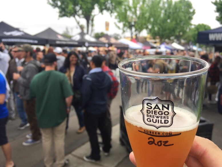 Guests of the Rhythm & Brews Festival received a 2-oz. glass for tasting. PHOTO SULLIVAN