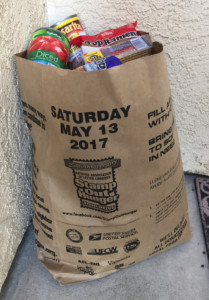 One of thousands of typical bags collected each year for the annual Stamp Out Hunger Food Drive. In 25 years, the Drive has collected 1.5 billion pounds of food for the hungry.  PHOTO ADAM SULLIVAN