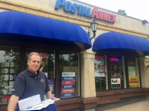 Chuck Datte, owner of Postal Annex in the Rancho Santa Fe Plaza. Photo by Leslie Talley