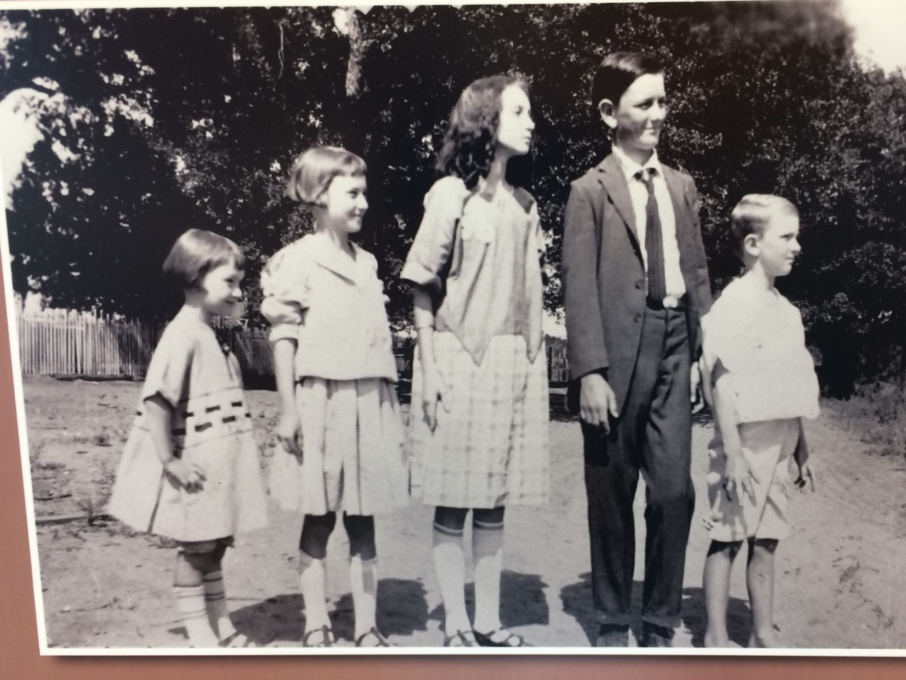 LBJ & Sibs Lyndon Johnson and his siblings (left to right): Lucia, Josefa, Rebekah, Lyndon and Sam Houston Johnson. The Johnson family ancestors first settled central Texas' Hill Country in the mid-1800s. Photo by Jerry Ondash