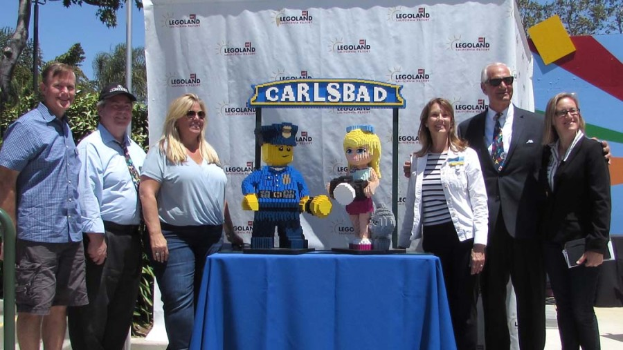 Carlsbad sign immortalized in LEGO
