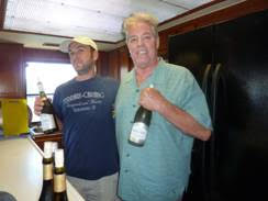 1.Nate Martin and Mike Hurst of Ferrari-Carano at their yacht tasting of new releases in San Diego.