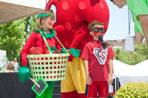 Even the littlest strawberry fans get into the spirit of the annual Strawberry Festival. Courtesy photo