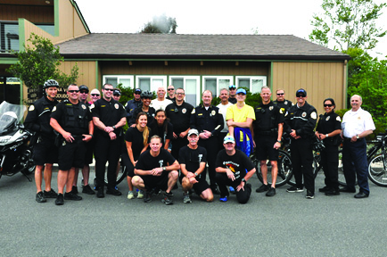 Local law enforcement officers band together to raise funds for the Special Olympics in an annual torch run. Courtesy photo