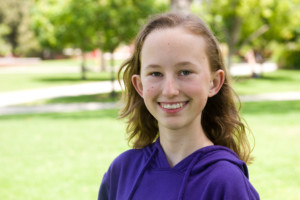 Claire Lewis, 13 year old graduates Palomar College