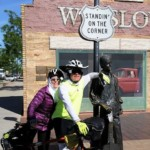 By May 12, Dan and Jenny are standin' on the corner in Winslow, Ariz.