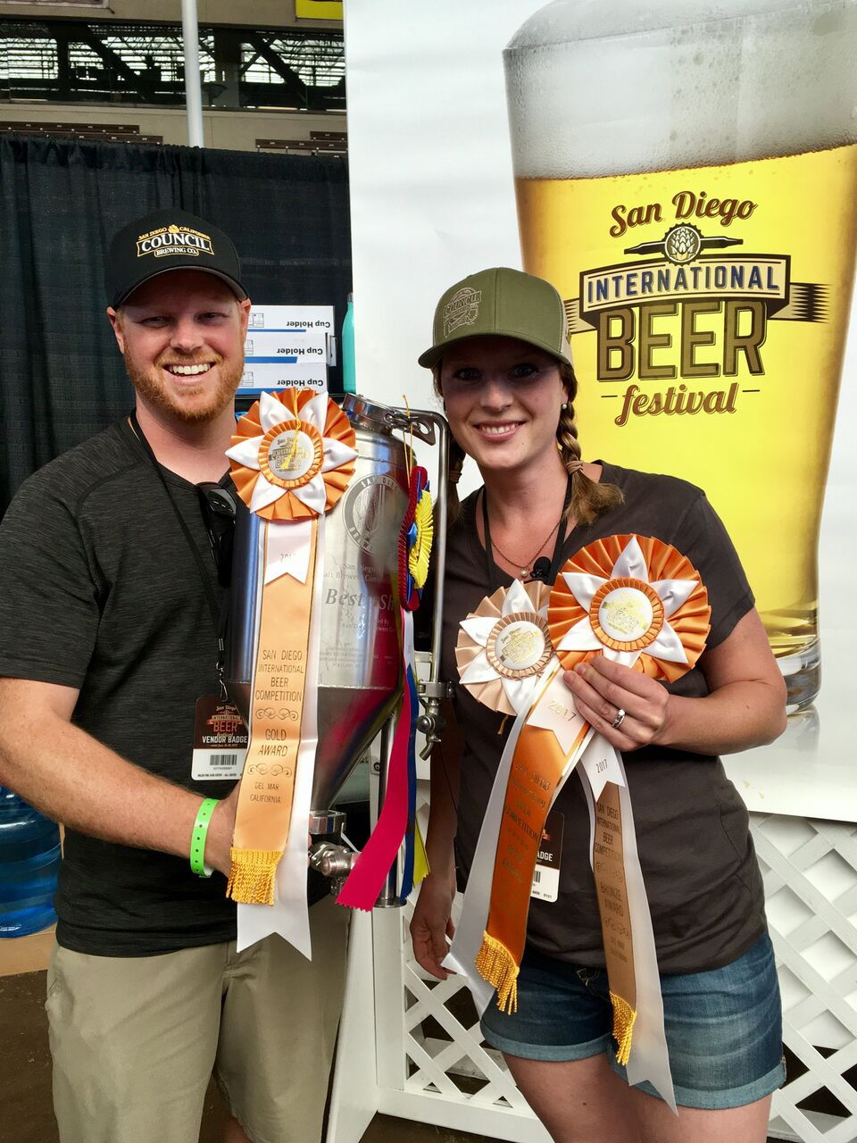 Curtis and Liz Chism, owners of Council Brewing Magic Factory down on 7705 Convoy Court in San Diego, were the makers of Lickable Staves, this year's Best of Show in the Del Mar Fair's San Diego International Beer Competition.