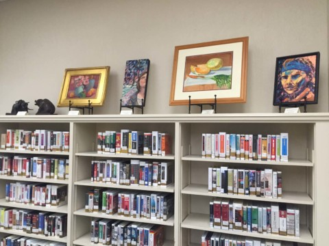 RSF Art Guild's library exhibit