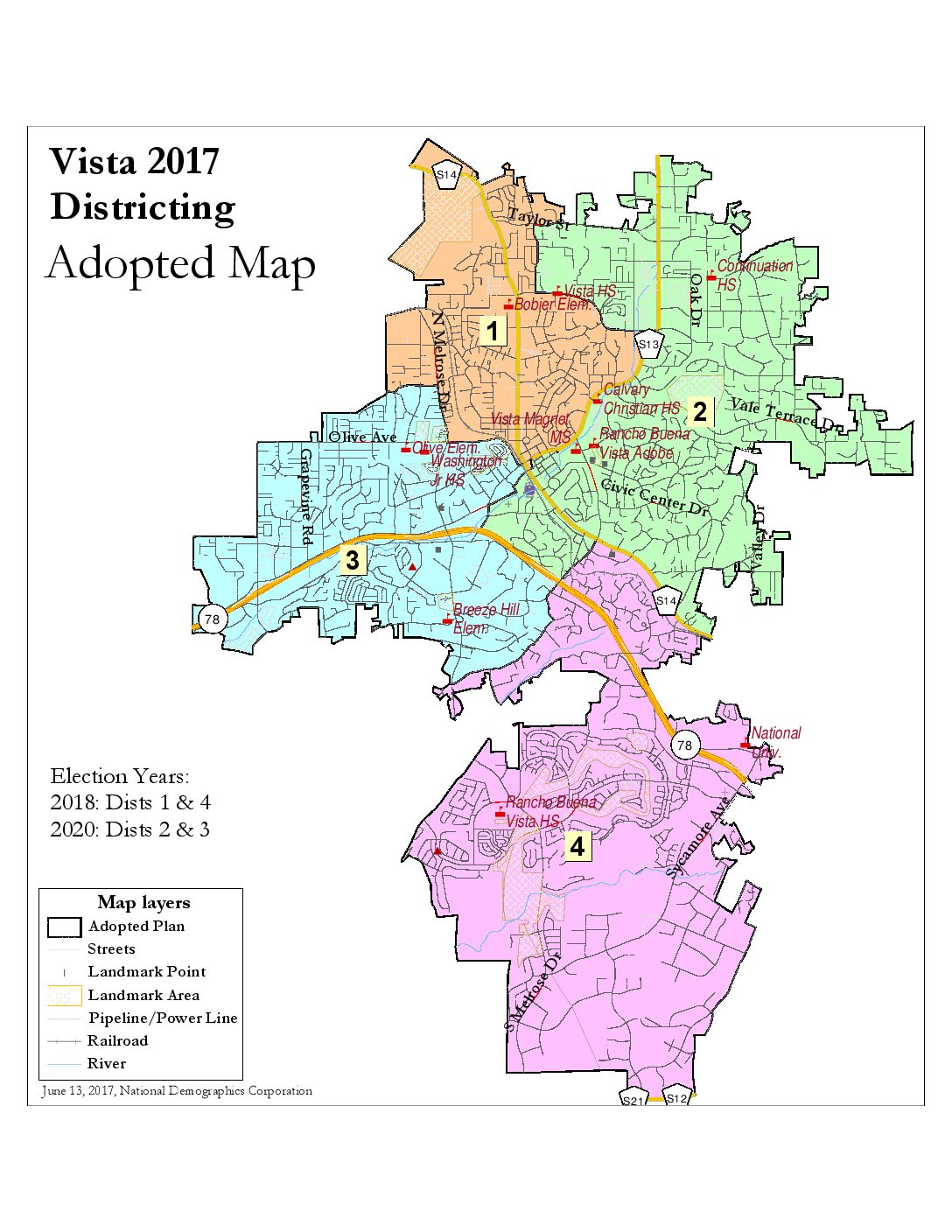 Vista residents help city to create new boundary map