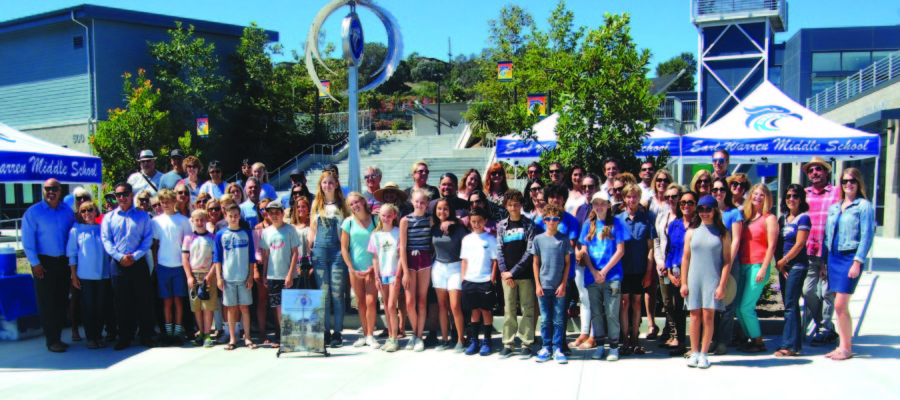Sculpture soars in the center of Earl Warren campus