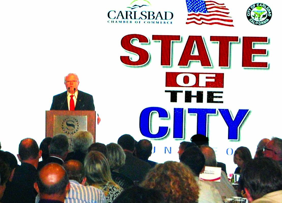 Hall highlights Carlsbad's successes in annual address