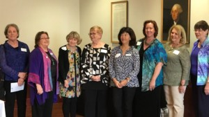 From left, Del Mar-Leucadia American Association of University Women members Rebecca Hill, Karen Vanderwerken, Karen Dorney, Fran Miller, Arleen von Schlieder, Carol Corbett-Parry, Norelynn Pion-Goureau and Bobbi Karnes celebrate their election to the new AAUW board. The group is seeking new members to be part of a local middle school program — Tech Trek — to support STEM education for girls, and to become part of a group dedicated to promoting equity for women and girls through advocacy, education, philanthropy and research. The group starts its fall season at the Encinitas Community Center Sept. 16. Visit http://delmarleucadia-ca.aauw.net or Facebook at https://ww.facebook.com/AAUWDML/