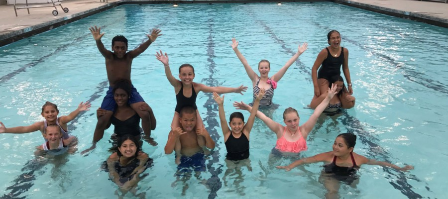 Annual synchronized swimming exhibition is a crowd pleaser