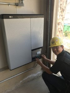 The battery installed at the Keefe residence in Carlsbad is a 10kWh, lithium-ion battery, and is the same battery used in more than 700,000 electric vehicles on the roads today. Courtesy photo