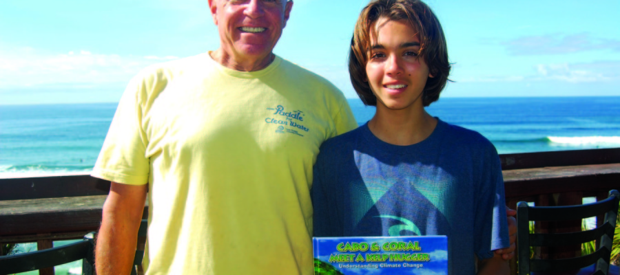 Father, son partner on children's ocean book