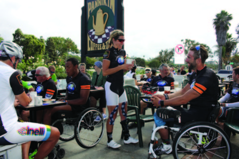 Challenged athletes bike through North County