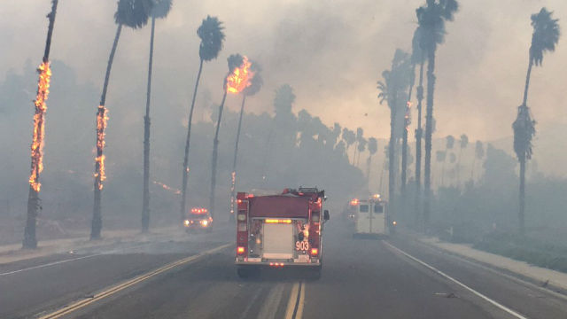 Update: Winds expected to pick up as Lilac Fire enters third