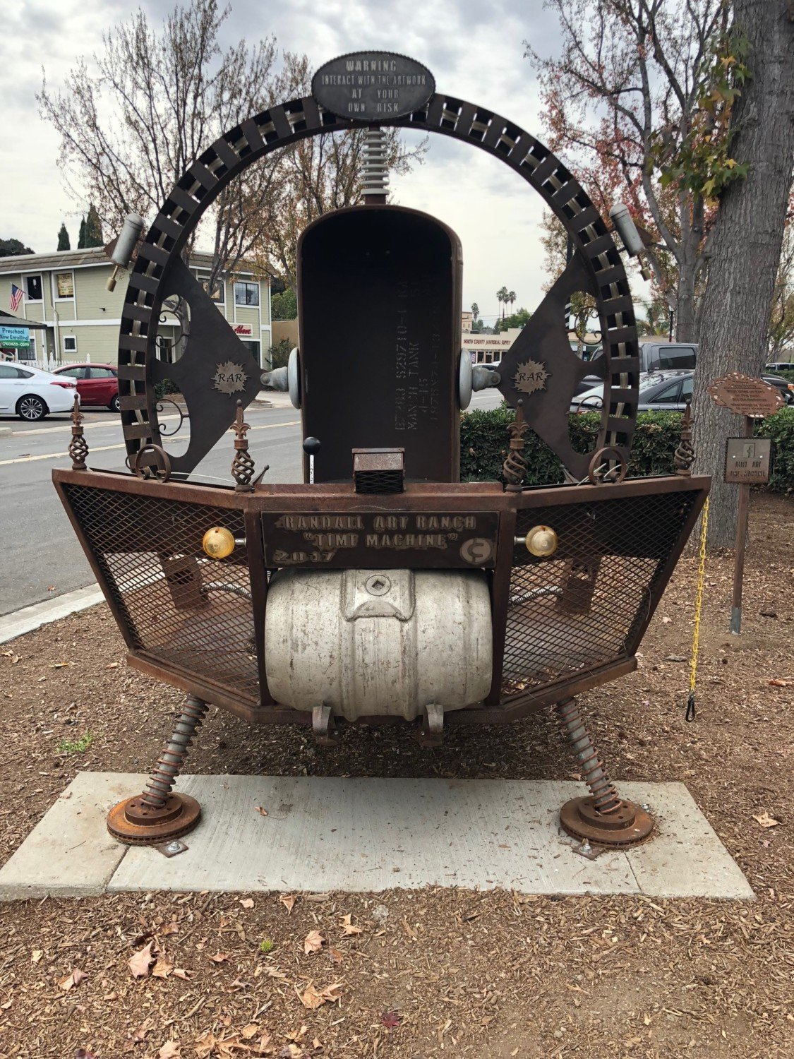 Time Machine sculpture stays put