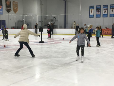Rink kicks off Winter Olympics with open house
