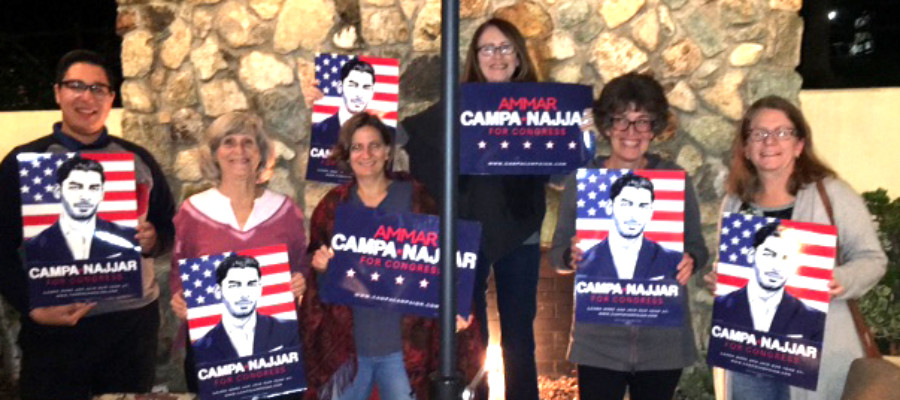 Volunteers turn out for challenger's campaign