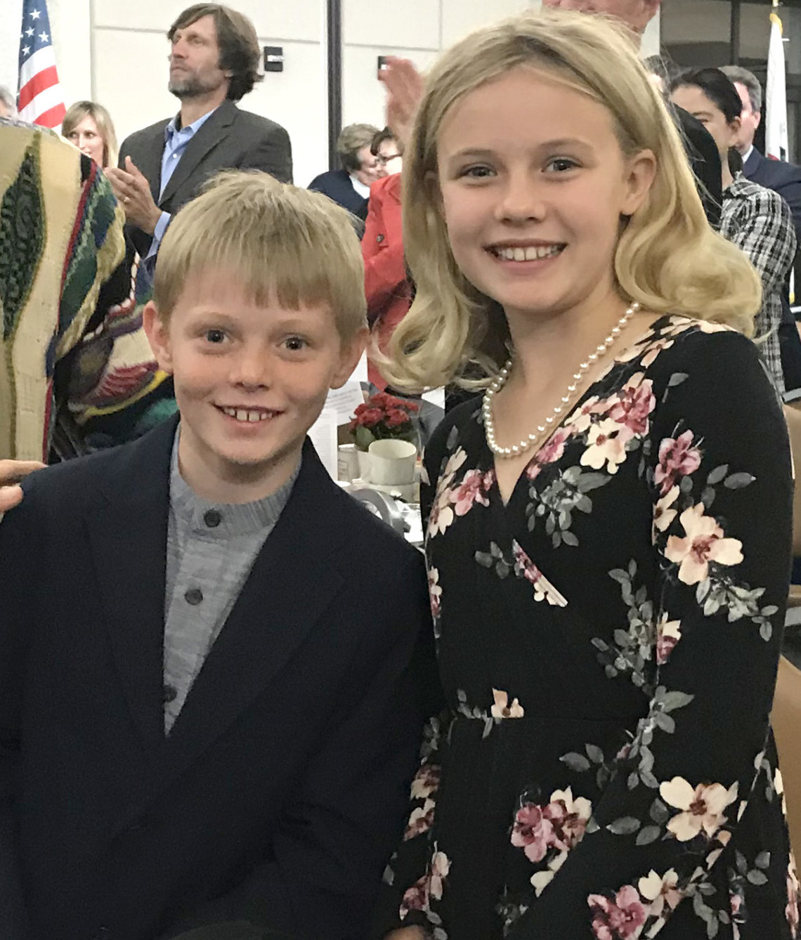 Mayor's kids steal show at State of the City Address