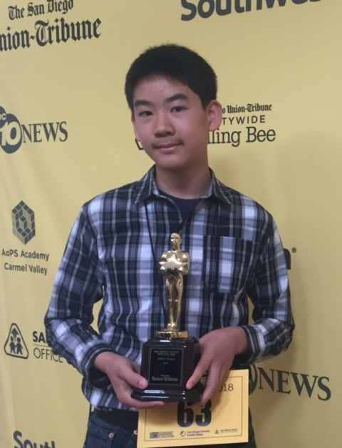 Carmel Valley student claims countywide spelling crown