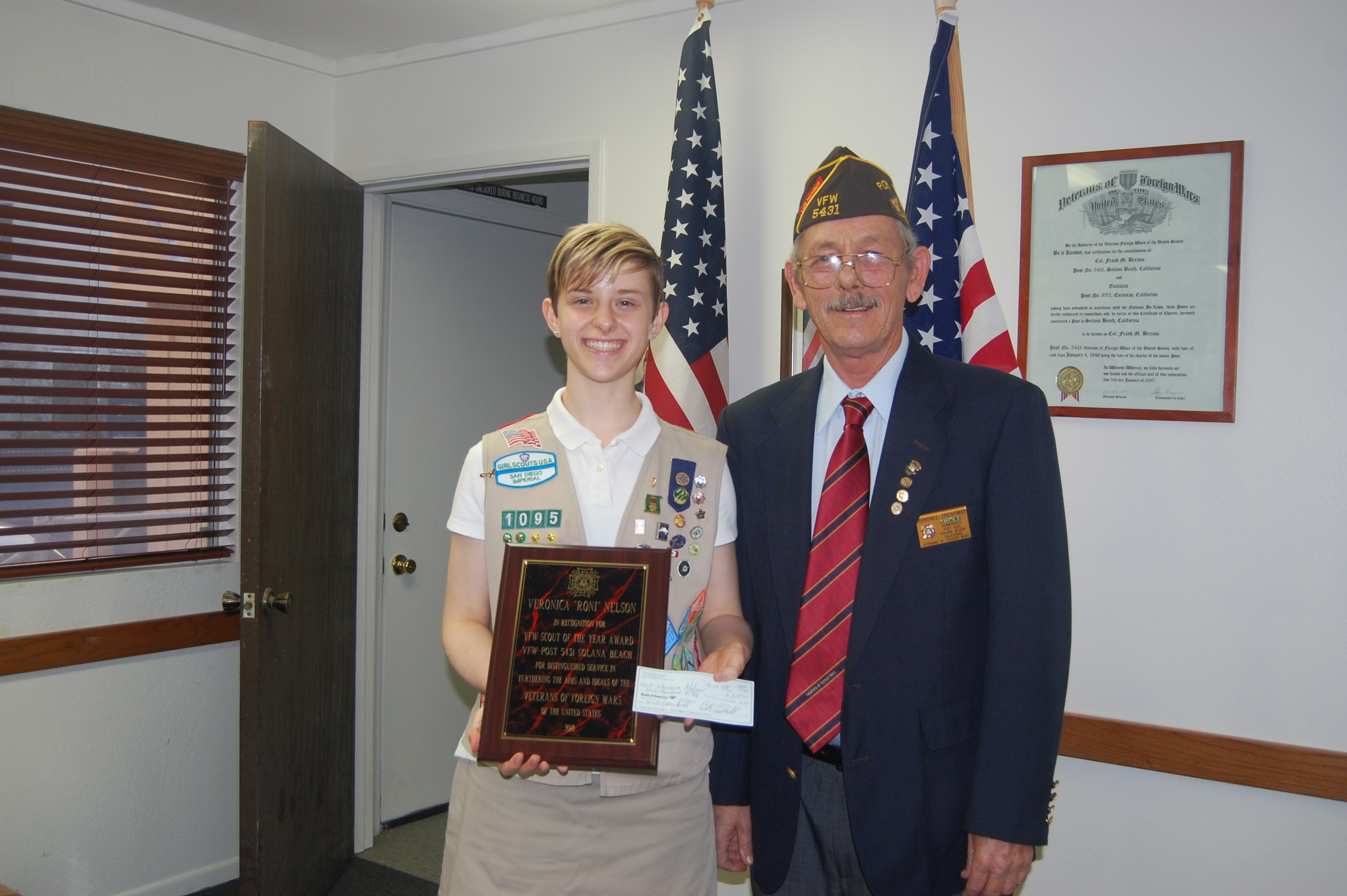 VFW honors Scout of the Year