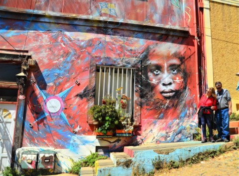 In Valparaiso, Chile, murals take street art to a whole new level