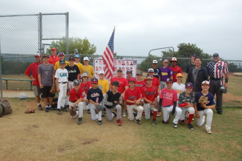 Little League players honor fallen service members