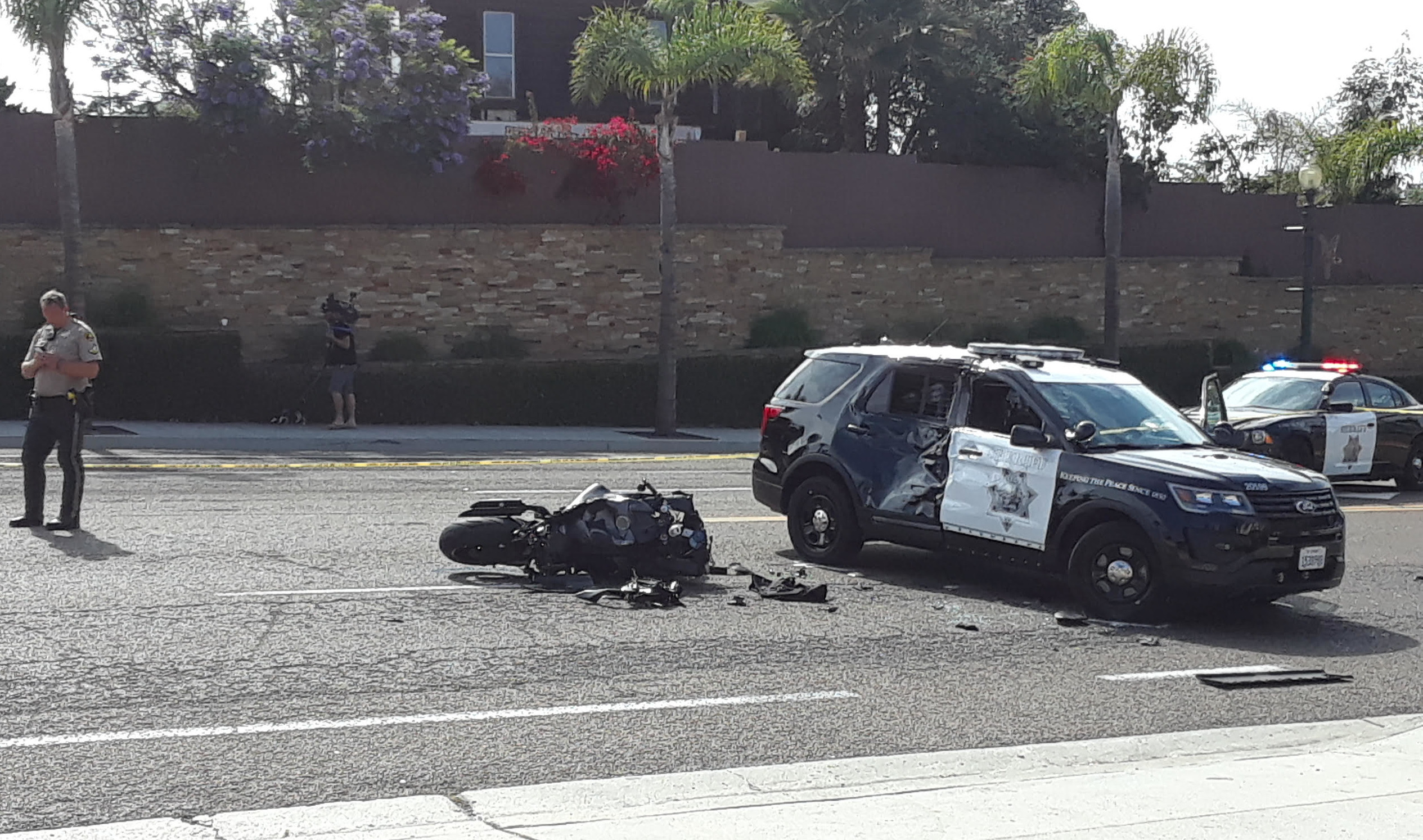 Motorcyclist killed in crash with sheriff's deputy