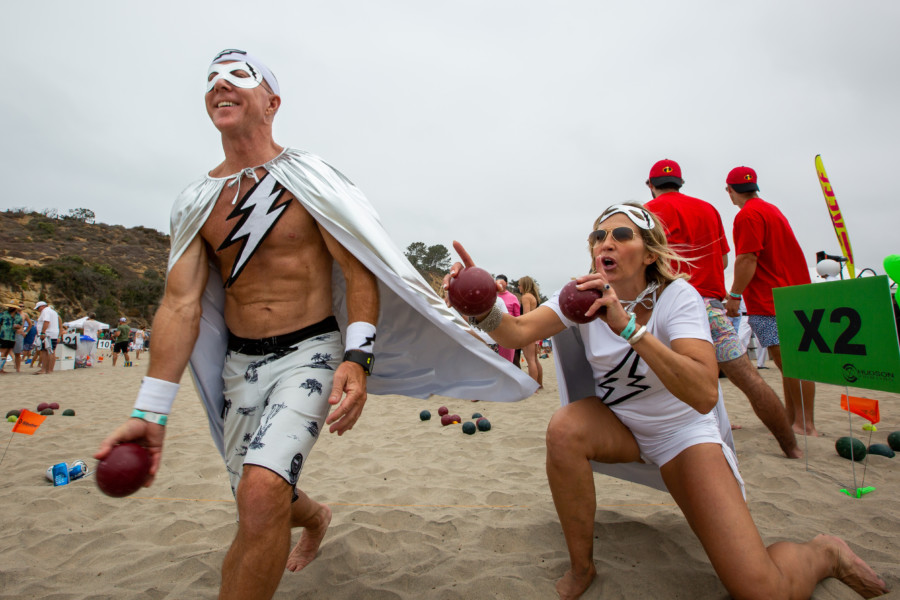 Beach bocce showcases sport, costumes