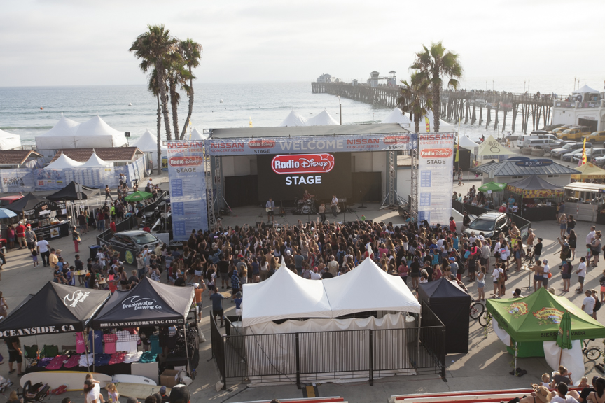 The Vamps perform a concert at the Paul Mitchell Supergirl Pro Saturday in Oceanside.
