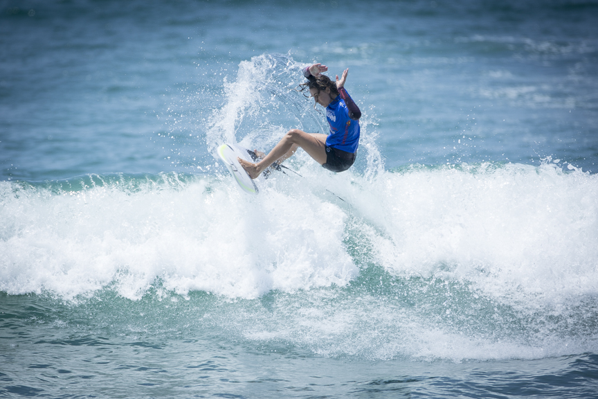 Philippa Anderson competes in the Paul Mitchell Supergirl Pro Sunday in Oceanside.