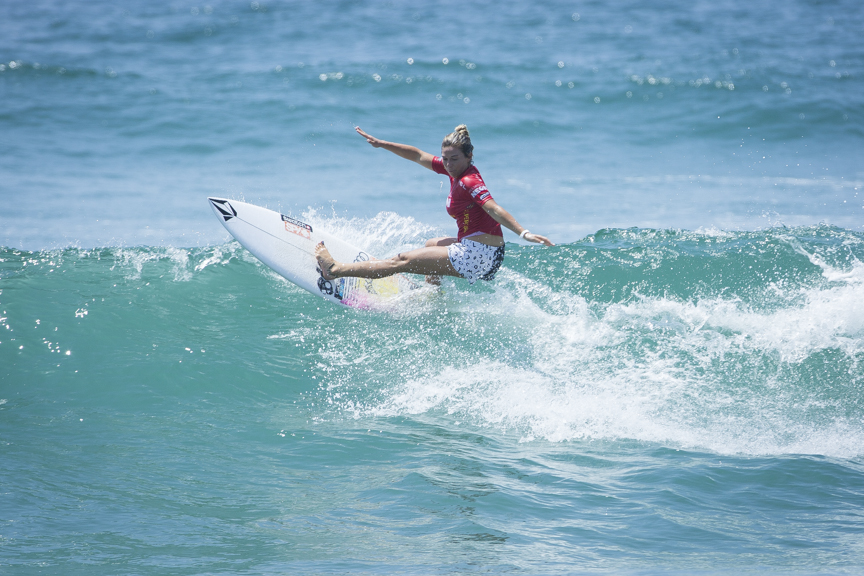 Coco Ho competes in the Paul Mitchell Supergirl Pro Sunday in Oceanside.