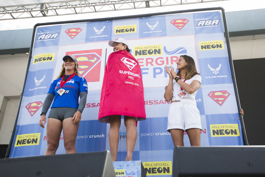 Carissa Moor of Hawaii wins the Paul Mitchell Supergirl Pro Sunday in Oceanside.