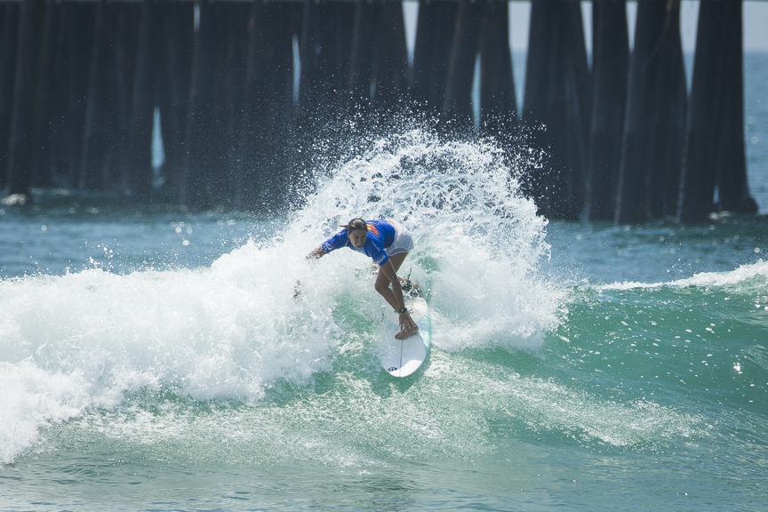 Malia Manuel competes in the Paul Mitchell Supergirl Pro Sunday in Oceanside.