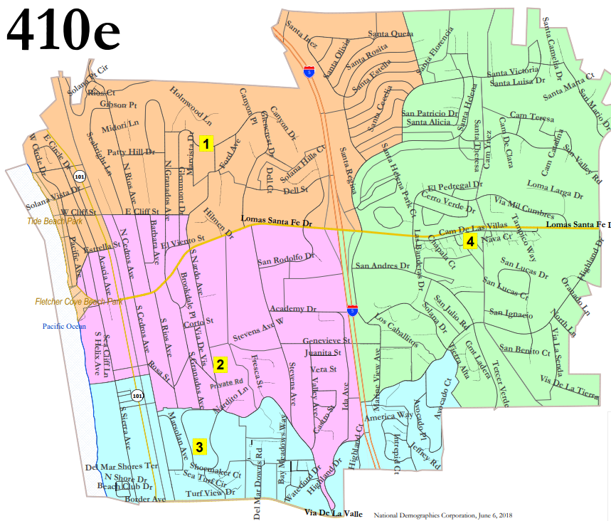 Solana Beach selects district-elections map
