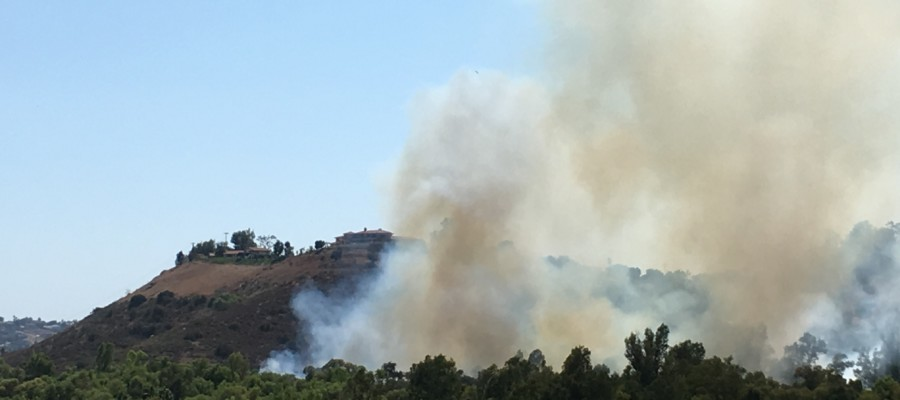 Authorities evacuate homes after Clover Fire erupts in San Pasqual Valley