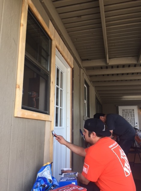 Home Depot leads renovation at sober living facility