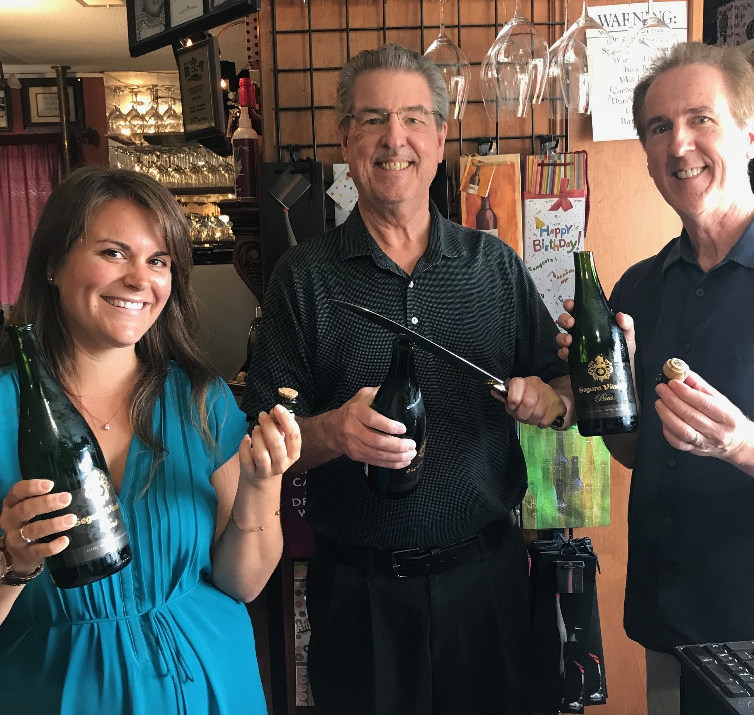 San Marcos wine shop marks anniversary with saber ceremony