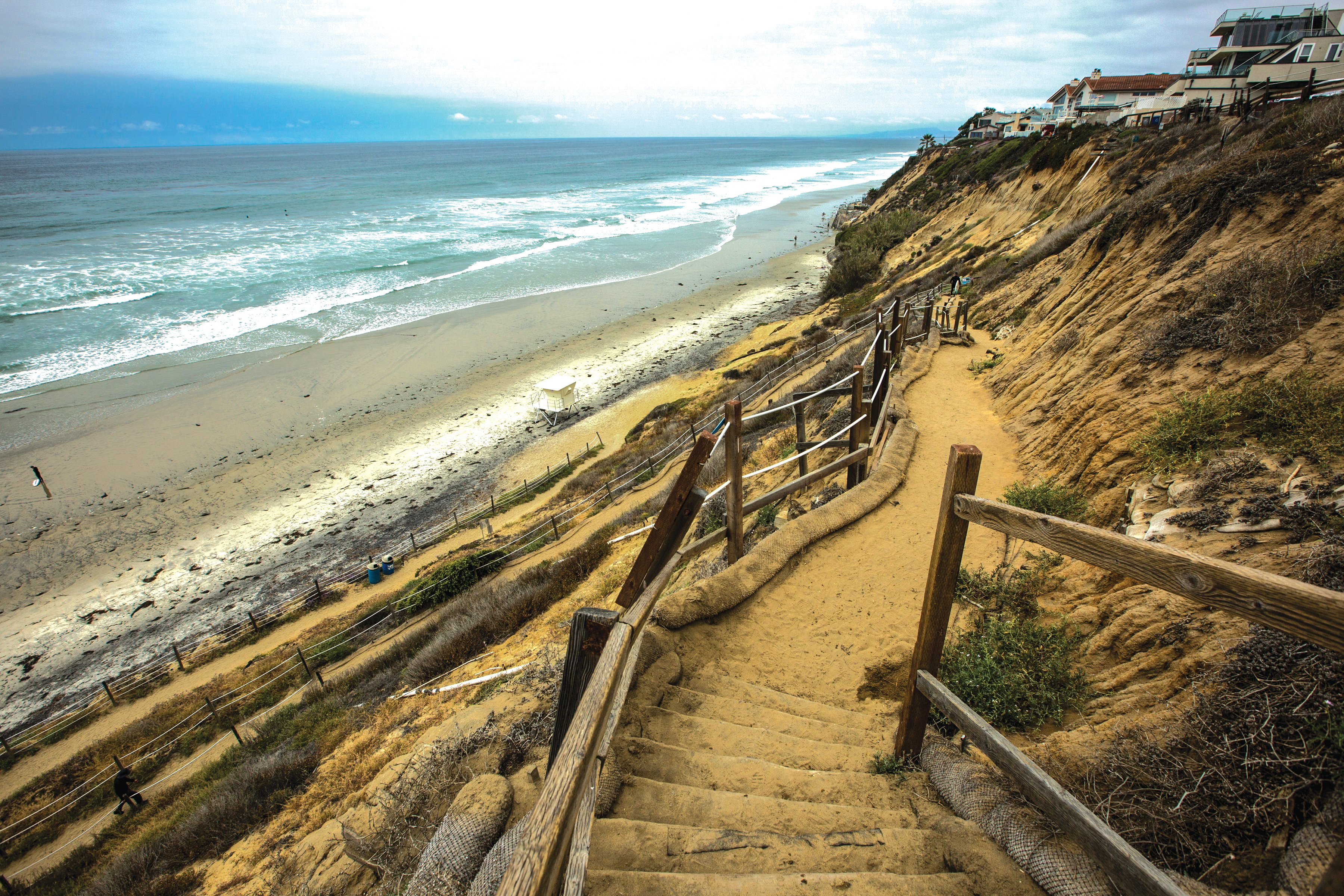 Encinitas ditches concrete Beacon's staircase over some residents' objections