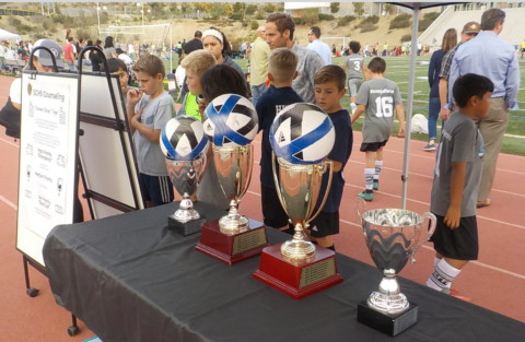 Elementary students mark their calendars for Copa de Carlsbad