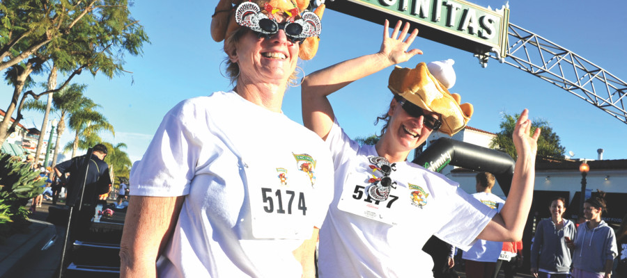 Why not 'wobble before you gobble' at the annual 5th Encinitas Turkey Trot?